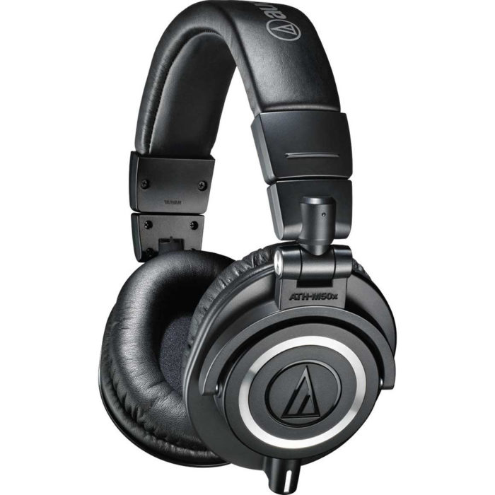 Audio-Technica ATH-M50x Studio Monitor Headphones (Black)