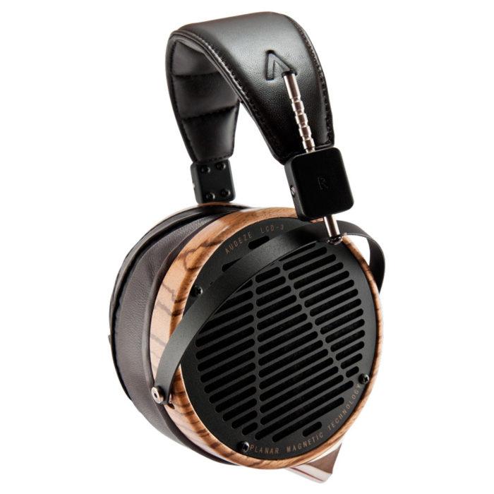 Audeze LCD-3 Planar Magnetic Audiophile Headphones (Zebrano Wood, Lambskin Leather)