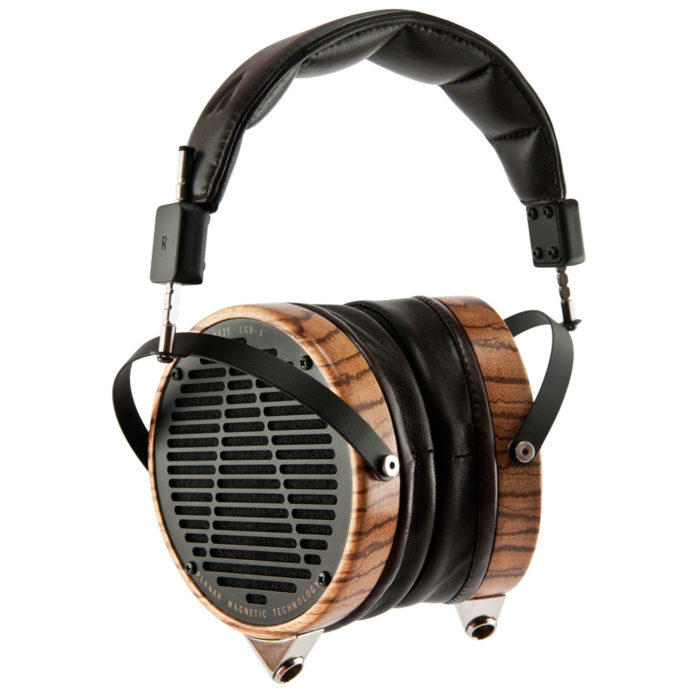Audeze LCD-3 Planar Magnetic Audiophile Headphones (Zebrano Wood, Lambskin Leather)