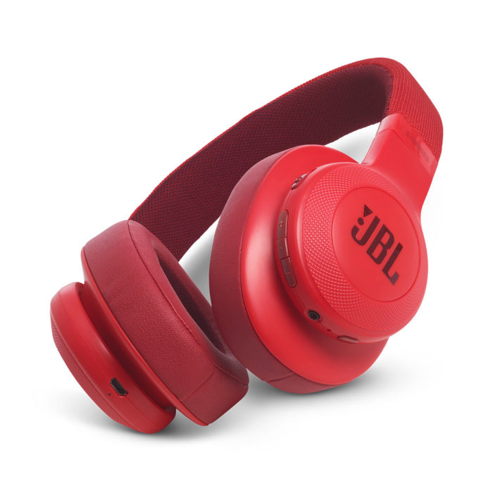 JBL E55BT Over-Ear Bluetooth Headphones (Red)