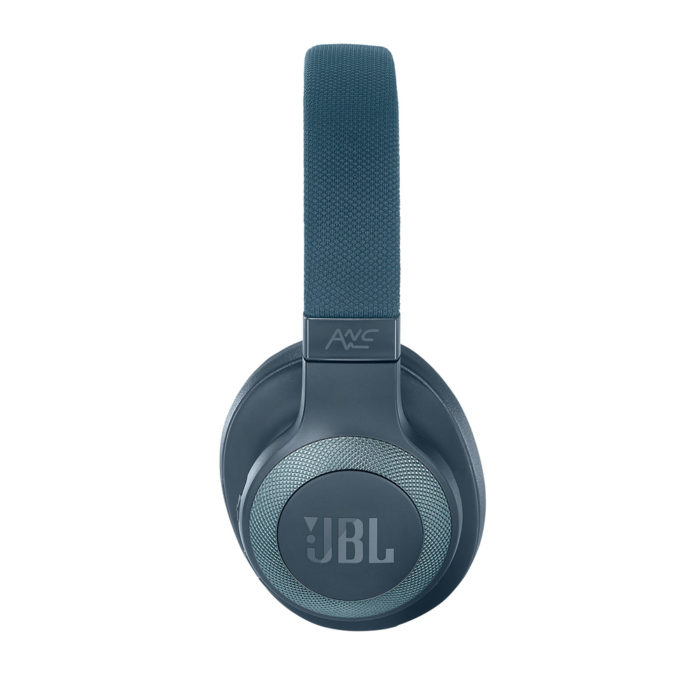 JBL E65BTNC Over-Ear Bluetooth Headphones with Active Noise Cancelling (Blue)